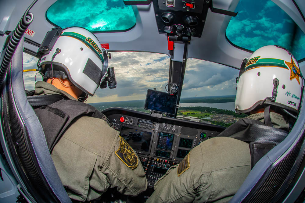 Two Sheriff Pilots in the Helicopter Cockpit | Tech-Tool Plastics
